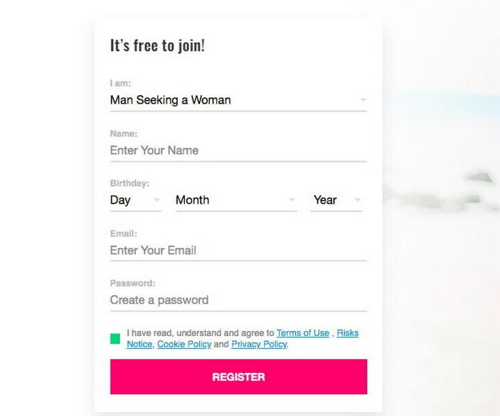 AsianFeels register form