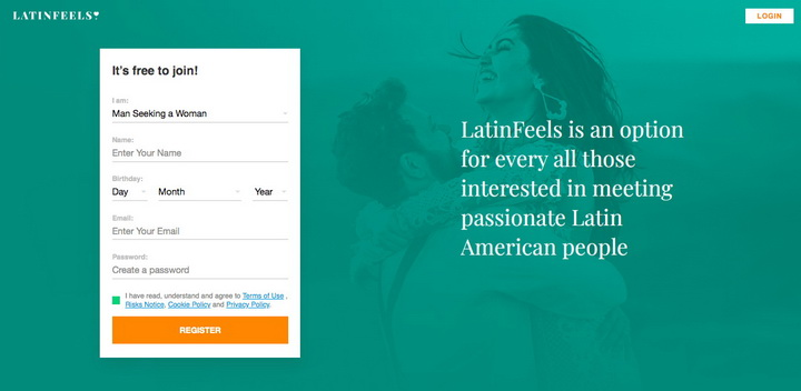 LatinFeels.com main page