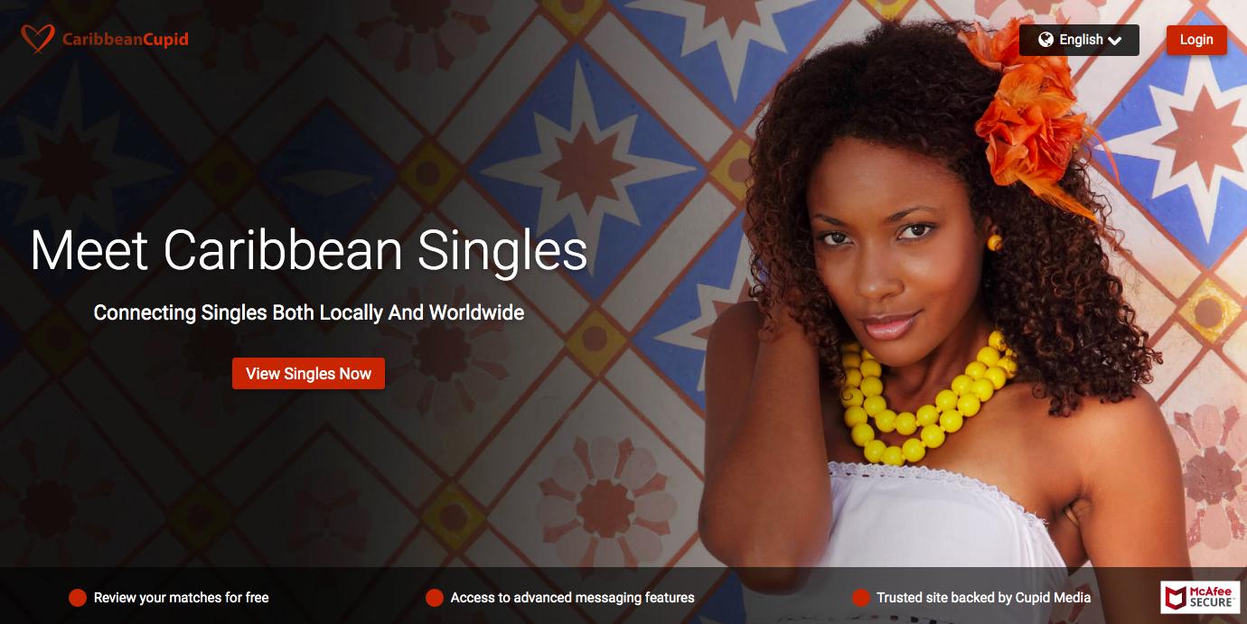 CaribbeanCupid main page