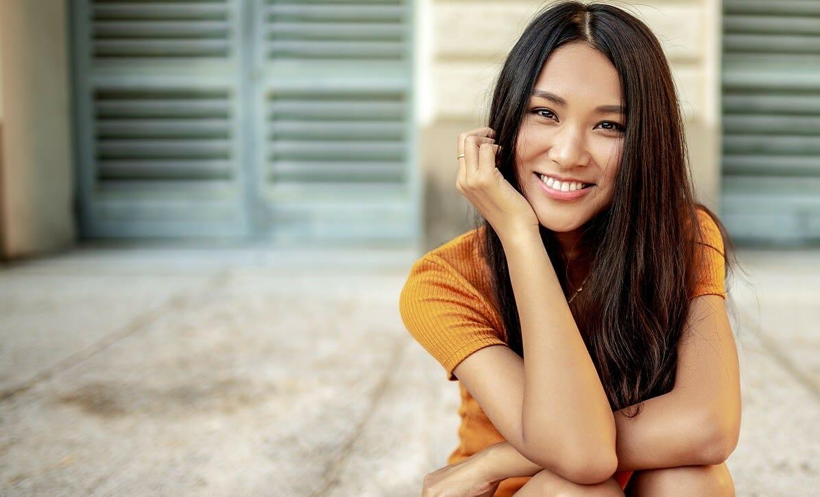beautiful smiling Thai woman